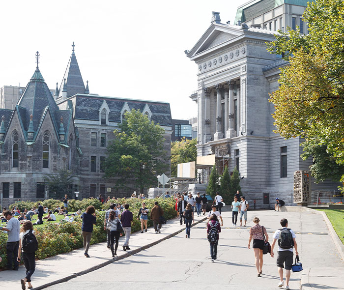View of McGill campus wich is close to the montreal's apartment for sale